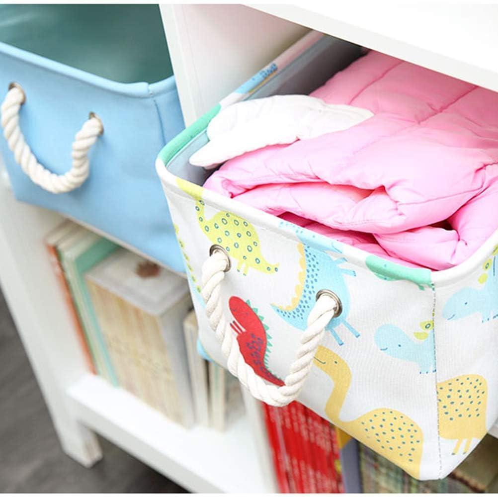 Blau Cartoon Dinosaurier Znvmi Aufbewahrungskorb Baby W/äschekorb Kinderzimmer Spielzeug Organizer Aufbewahrungsbox mit Griff Regallagerbeh/älter