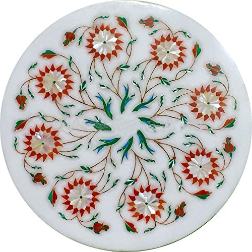 or decorative at home (Marble Inlay Plate)