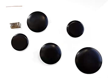 Spetebo Diseño Madera Gancho de Pared Negro - Juego de 5 ...