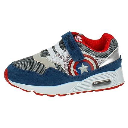 Zapatillas deportivas Vengadores Sport Max - Deportivas Avengers con cámara de aire, azul, gris
