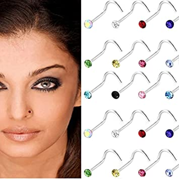 Amazoncom Hosaire 30pcsset Stainless Steel Nose Ring Nose Stud