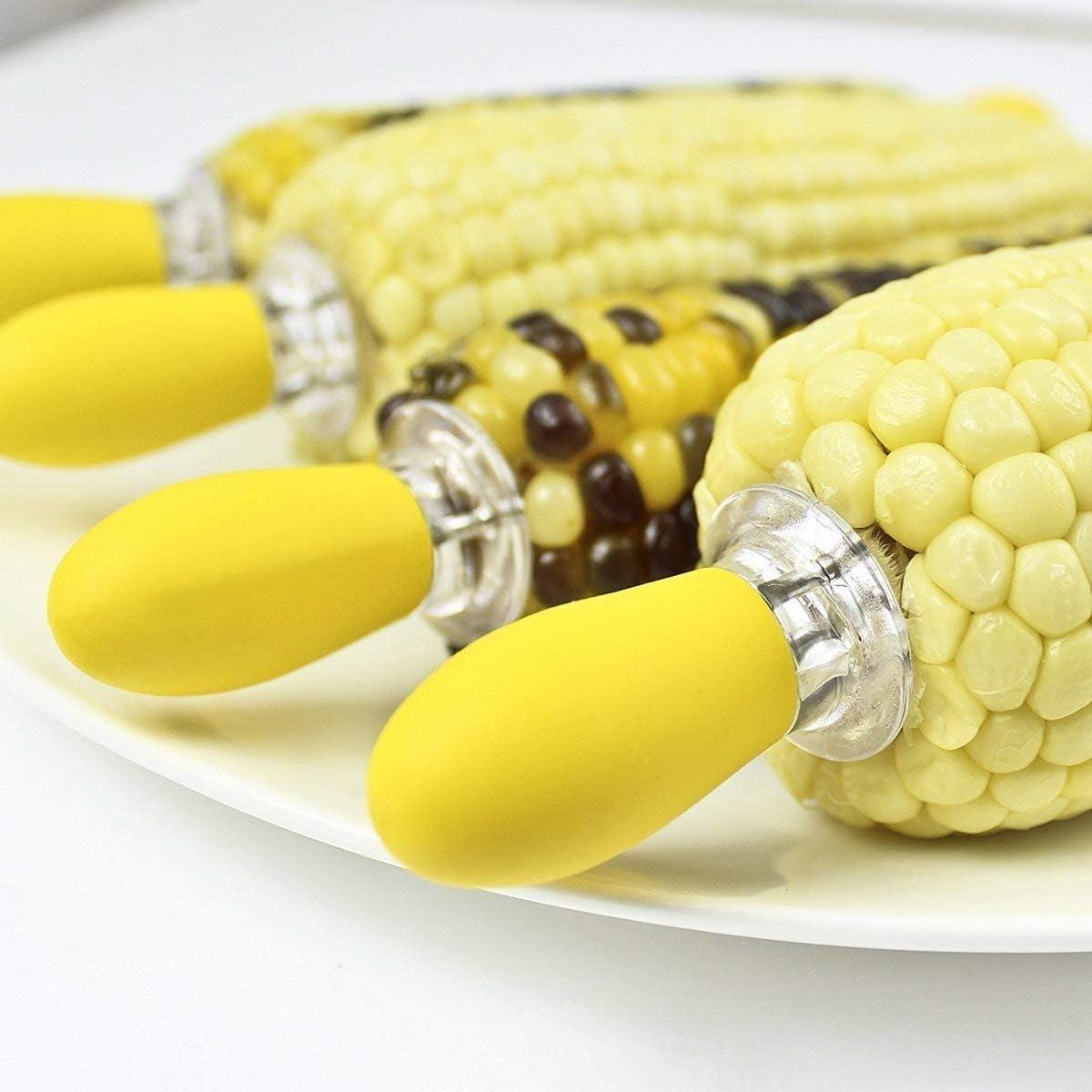 BESTONZON Soportes de mazorca de ma/íz de Acero Inoxidable con Mango de Madera para Pinchos BBQ Twin Prong Sweetcorn Holder Tenedor Herramienta de Cocina 1 pc