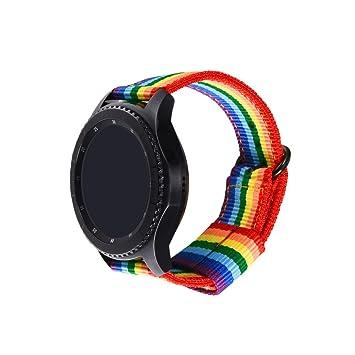 bandmax Correa Samsung Gear S3, Correa de Nailon LGBTQ Adecuado para Gear S3 Frontier/Classic/Moto 360 2nd Gen Reemplazo Banda para Samsung S3 ...