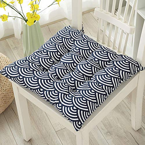 Price comparison product image Tie On Seat Cushion for Chair Square Cotton Seat Cushion Soft Cotton Square Outdoor Chair Seat Cushions For Office Room Kitchen Patio 1PC (D)