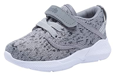 4689593f6abe COODO CD3001 Toddler Kid s Sneakers Boys Girls Cute Casual Running Shoes  ASH Grey-5