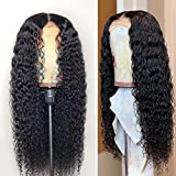 Fureya Glueless Lace Front Wigs for Women Natural Water Wave Heat Resistant Fiber Synthetic Hair with Baby Hair 24 inch Lace Wigs