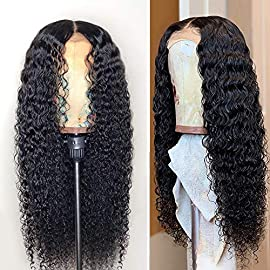 Fureya Glueless Lace Front Wigs for Women Natural Water Wave Heat Resistant Fiber Synthetic Hair with Baby Hair 20 inch Lace Wigs
