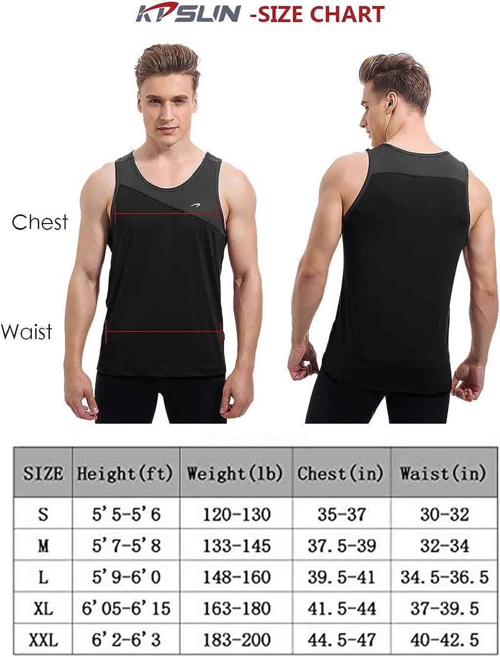 KPSUN Mens Workout Tank Top Quick Dry Athletic Gym Bodybuilding Running Sleeveless Shirt