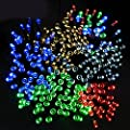 Ucharge Solar Fairy String Christmas Lights 200led 72ft for Outdoor, Gardens, Homes, Wedding, Christmas (Multi-color)