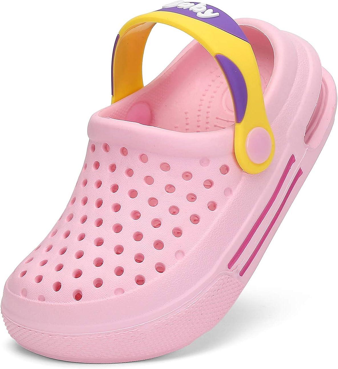 7-2.5 UK Clogs Kids Summer Garden Clogs Boys Lightweight Breathable Girls Garden Mules Gr