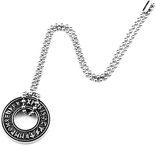 Odin/'s Raven Valknut Amulet and Talisman Norse Viking Runes Pendant necklace