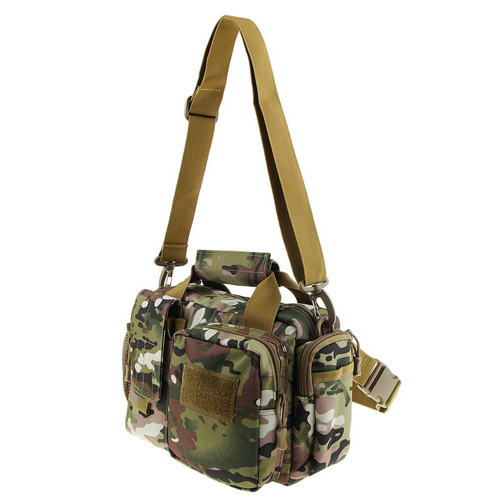 Italy Camouflage DYNWAVE Canvas Waterproof Shoulder Bag Handbag Backpack