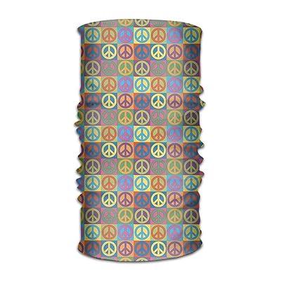 Bing4Bing Unisex Bandanas Balaclava Cap Turban Headscarf Sweatband Headwear Headscarf Rainbow Peace And Love