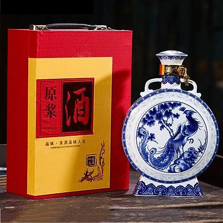 Botella de vino de cerámica de zorro de nueve colas, creativa y exquisita porcelana tradicional china