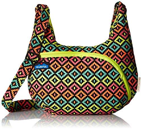 KAVU Sydney Satchel, Neon Montage, One (Signature Sling Handbag)
