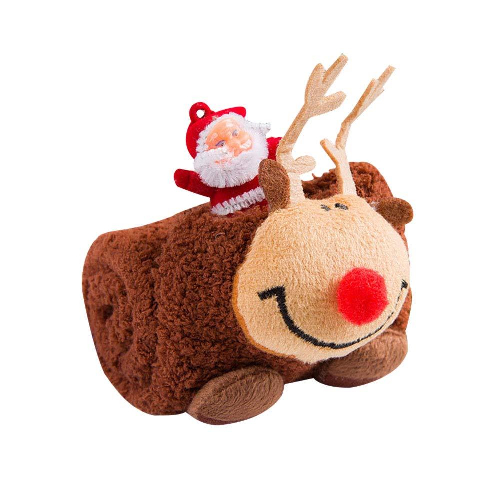 LUOEM Calzini da Regalo di Natale Calze per Adulti Calze per Cani Invernali e Invernali Ispessimento Calze Antiscivolo per Il Pavimento (Alce)