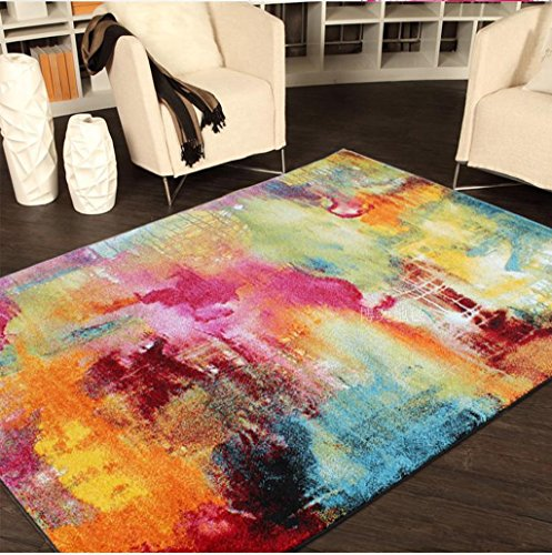 Hyun times Simple Ink And Wash Abstract Carpet Living Room Bedroom Coffee Table Bedside Study Room Carpet Bright by Hyun times carpet