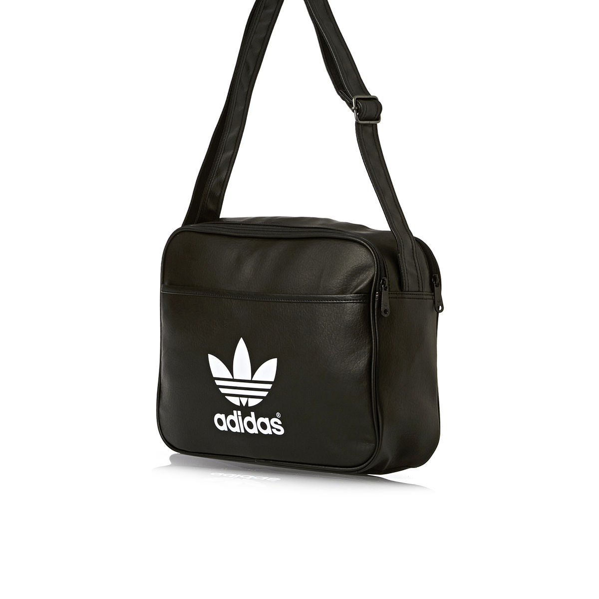 adidas Airliner Classic Shoulder Bag Black black white Size 38 x 12 x 28  cm, 13 Liter  Amazon.co.uk  Sports   Outdoors 3aecc78501