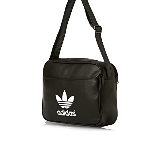 adidas Airliner Classic Shoulder Bag Black black white Size 38 x 12 x 28  cm 6dfe91c78edf2