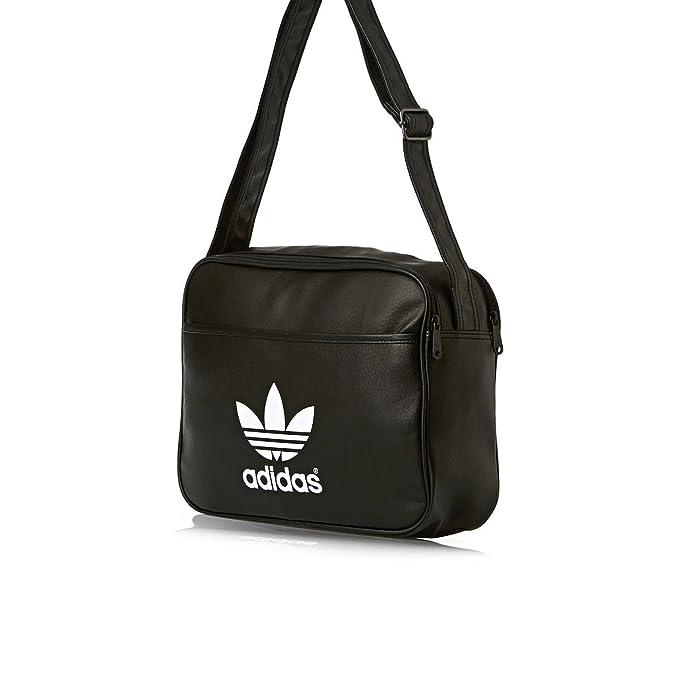 27e2c94b334b adidas Airliner Classic Shoulder Bag Black black white Size 38 x 12 x 28  cm