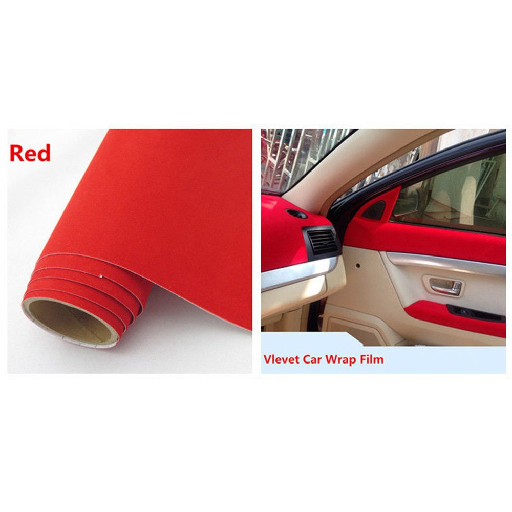 Velvet Suede Cloth Fabric Vehicle Wrapping Velour Vinyl Wrap Film Sticker