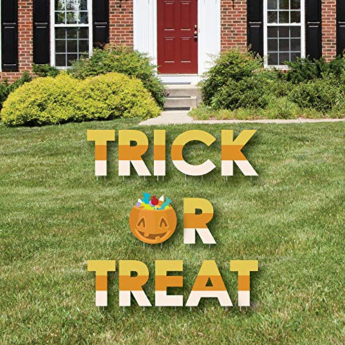 Big Dot of Happiness Trick or Treat - Yard Sign Outdoor Lawn Decorations - Halloween Party Yard Signs - Trick or Treat ()