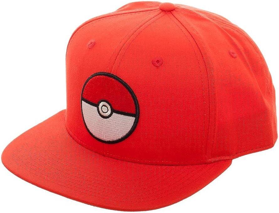 Bioworld Pokemon Pokeball Red Snapback Gorra De Béisbol: Amazon.es ...