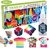 26 Colours Tie Dye Kits, Caloyee Permanent One Step Tie Dye Set for Craft Arts Fabric Textile Party DIY Handmade Project,...