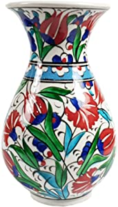Decorative Ceramic Porcelain Flower Vase Chinese Floral Colorful for Table Living Room Home Decor Decoration Centerpiece Display Kitchen Wedding Office Gift Women Tall Small (Decor5)