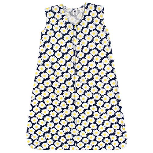 - Hudson Baby Wearable Safe Soft Jersey Cotton Sleeping Bag, Daisy, 0-6 Months