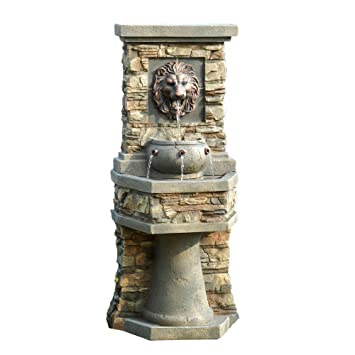Amazon.com : Lion Head Outdoor/Indoor Water Fountain : Floor ...