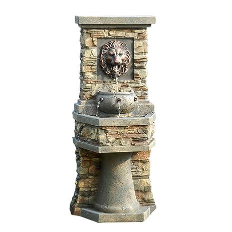 Amazon.com : Lion Head Outdoor/Indoor Water Fountain : Floor ...