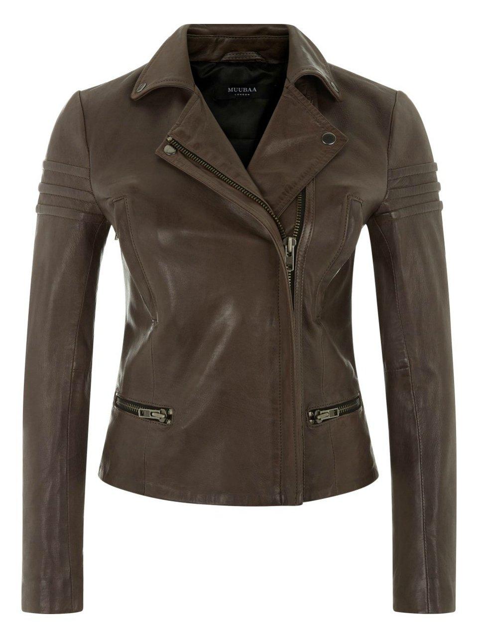 Muubaa Lance Grey Leather Biker Jacket (2) by Muubaa London