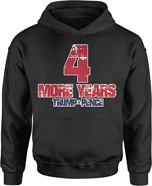 Expression Tees Trump Pence 4 More Years Youth-Sized Hoodie