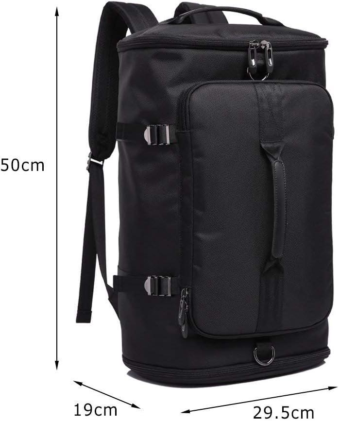 Sac /à Dos Sport Duffels pour Voyager Gymnasem Backpack 40L Toile Multipoches pour Laptop 15.6 Bagages Grande Capacit/é avec Compartiment /à Chaussures et 2 Poign/ées de Main comme Sac /à Main Noir