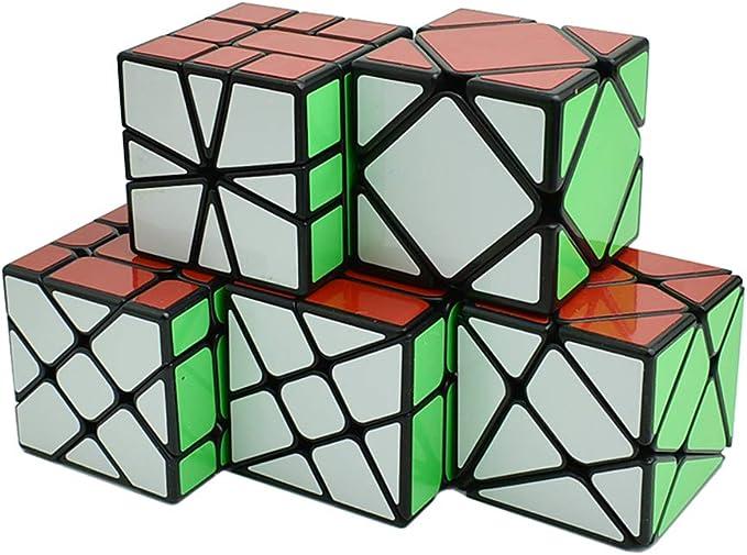 Wings of wind - Cubo Mágico Irregular de Velocidad MoYu YongJun Fisher, Rueda de Viento, Kingkong, Skewb, SQ Cube Puzzle (Paquete de 5): Amazon.es: Juguetes y juegos