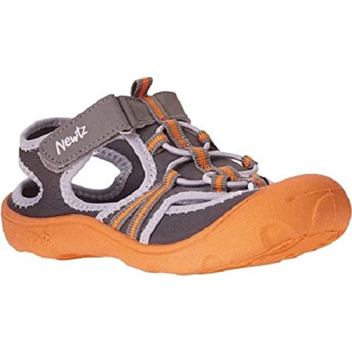e4e0fd2588d6 Newtz New Toddler Boy Watershoe Swim Foot UPF 50+ Orange Grey 7 8 (