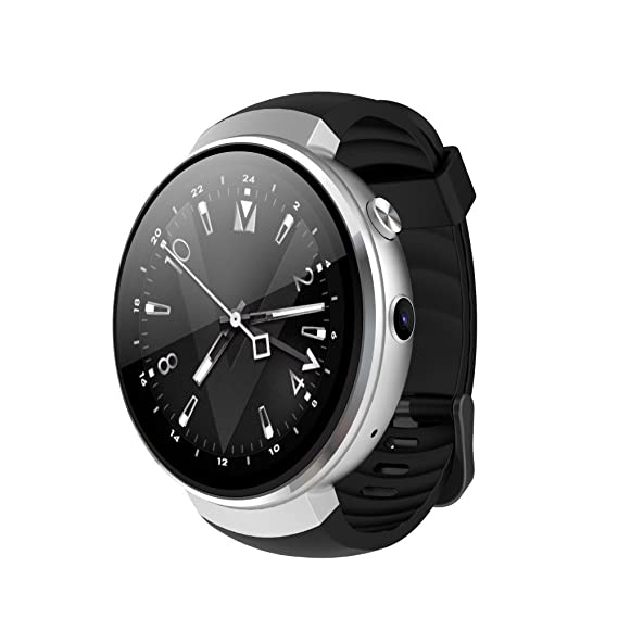 982fad105442ba Image Unavailable. Image not available for. Color: Multifunction Z28 4G  Smart Watch AMOLED Round Screen 1+16GB Android 7.0 Step GPS Heart