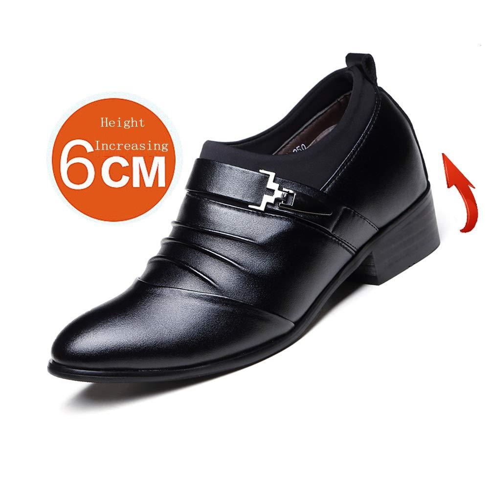 Xujw-schuhe, 2018 Schuhe Schuhe Schuhe Herren Männer Business Oxford, Echtleder Splice Oberen Slip-on-Aufzug Schuhe 2   (6cm) Taller Abnehmbare Höhe Zunehmende Einlegesohle (Farbe   Schwarz, Größe   37 EU) 5ed458