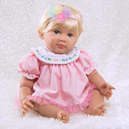 5-Piece Gift Set 19 inch GentleTouch Vinyl /& Weighted Body Paradise Galleries Realistic Reborn Baby Girl Rainbow Blessings Hope