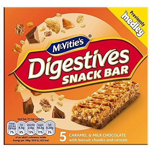 Mcvities Mcvitie De Aperitivo Digestivo Barra De Caramelo Y Chocolate Con Leche 5 X 30g (