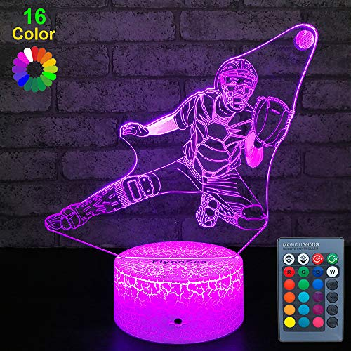 FlyonSea Kids Baseball Gifts,Toy Baseball Light 16 Color Changing Kids Night Light with Touch and Remote Control, Baby Baseball Decor Lamp Birthday for Kids Boys Baby