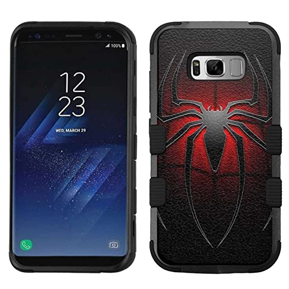 competitive price ee462 2d70c for Samsung Galaxy S8 Plus, Hard+Rubber Dual Layer Hybrid Heavy-Duty Rugged  Armor Cover Case - Spider-Man #L