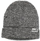 NEFF fold Heather Beanie, Black/White, One Size