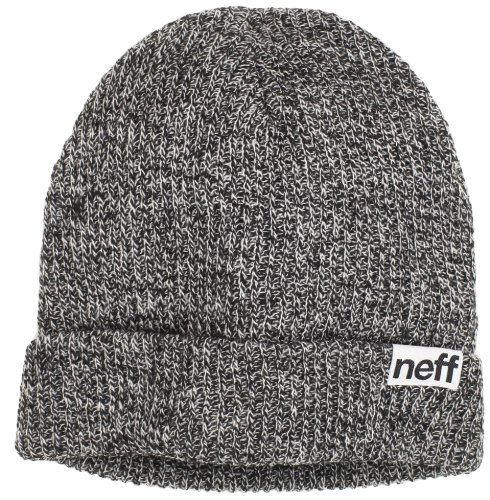 neff Fold Heather Beanie Hat, -Black/White, One Size