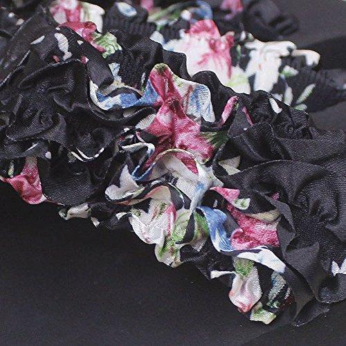 Fille Noir Plate Tongs Eté flops Slip Femme Kemosen forme Haute Sandales Floral RSvwqW