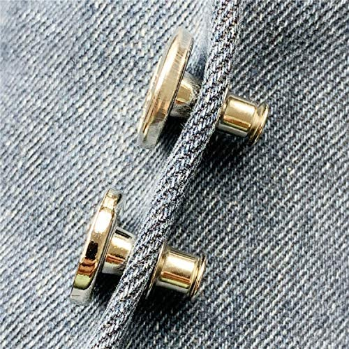 willikiva 4Pcs Instant Buttons Adjustable Jean Button No Sew Metal Button Adds Or Reduces an Inch to Any Pants Waist in Seconds(Z049)