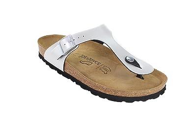 JOE N JOYCE Damen Rio Synsoft Soft Fußbett Zehentrenner Silver Größe 40 EU Normal bJlshJ