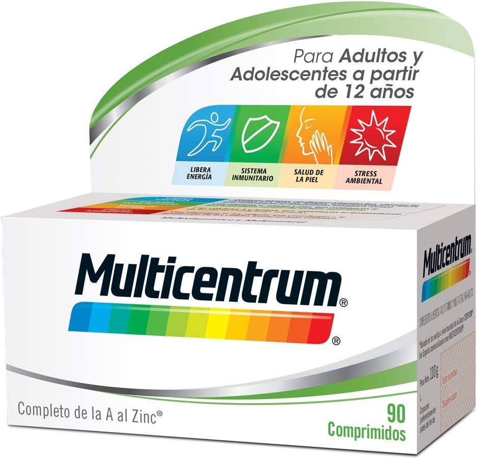 Multicentrum, Complemento Alimenticio con 13 Vitaminas y 11 Minerales, Adultos y adolescentes a partir de 12 años, 90 Comprimidos: Amazon.es: Salud y cuidado personal