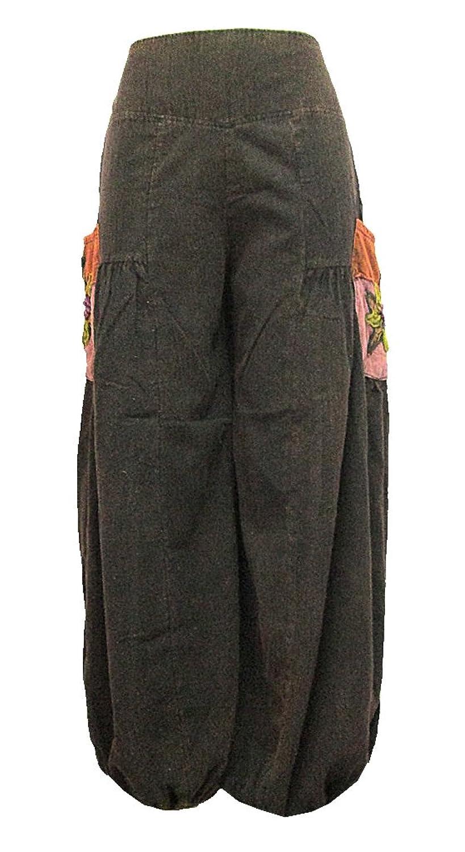 Women's 2 Pocket-Side Elastic Leg Opening Long Pants